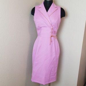 Kay Unger New York Sleeveless Tie Front Dress